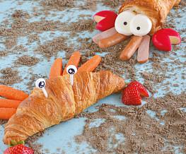 Krab en kreeft croissant